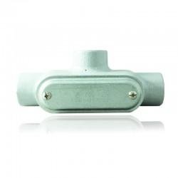 Conduleta CROUSE HINDS Serie 7 NEMA3R Forma - T 3-4 Pulg En Aluminio - 640641-T-27 CG C-TAPA Y EMP