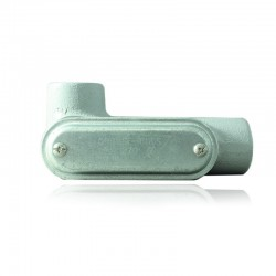 Conduleta CROUSE HINDS Serie 3 Forma - T 1 1-4 En Aluminio con pintura Gris - 12360655-T-43 CG C-TAPA Y EMP