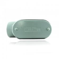 Conduleta CROUSE HINDS Serie 3 Forma - LR 1 1-4 En Aluminio con pintura Gris - 12360619-LR-43 CG C-TAPA Y EMP