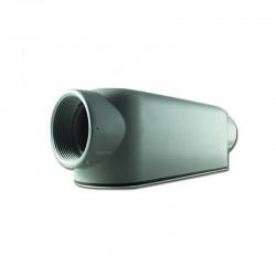 Conduleta CROUSE HINDS Serie 3 Forma - LB 1 Pulgadas En Aluminio con pintura Gris - 12360595-LB-33 CG C-TAPA Y EMP