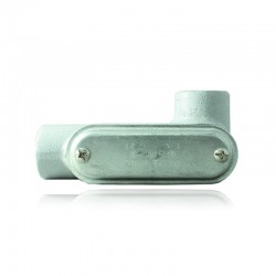 Conduleta CROUSE HINDS Serie 7 NEMA3R Forma - LR 1 En Aluminio - 640632-LR-37 CG C-TAPA Y EMP