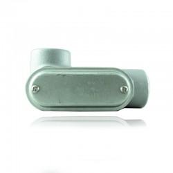 Conduleta CROUSE HINDS Serie 7 NEMA3R Forma - LL 1 1-2 Pulg En Aluminio - 640624-LL-57CG