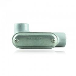 Conduleta CROUSE HINDS Serie 7 NEMA3R Forma - LL 1 Pulg En Aluminio - 640622-LL-37 CG C-TAPA Y EMP