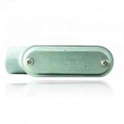 Conduleta CROUSE HINDS Serie 7 NEMA3R Forma - LB 1 Pulg En Aluminio - 640612-LB-37 CG C-TAPA Y EMP