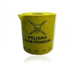 Cinta Plastica Peligro Alta Tension Rollo X 500 mts