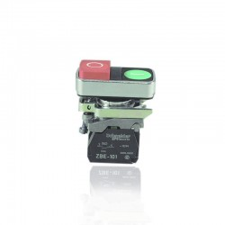 Pulsador Star Stop Telemecanique Rojo-Verde 220V - XB4BL73415