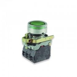 Pulsador Armado Verde Con Bloque Contacto             - SASSIN