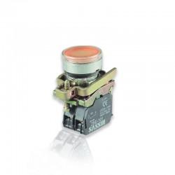 Pulsador Armado Amarillo Con Bloque Contacto - SASSIN