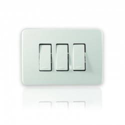 Ultra Interruptor Triple Blanco - 144122-SB