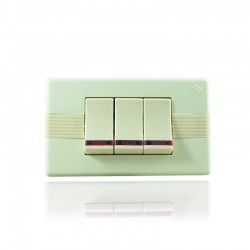 Abitare Interruptor Triple Conmutable con Luz Piloto Marfil - 31200- 923-LP