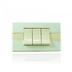 Abitare Interruptor Triple Conmutable Marfil - 31191- 923