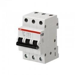 Breaker de Riel ABB Tripolar 3 x 25A - 6KA - Ref: 2CDS213001R0254-SH203-C25