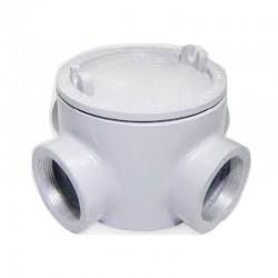 Caja Redonda Gua Con Tapa 3-4 Pulgadas Tipo L Roscado - S7-GUAL075