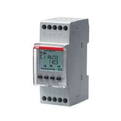 Interruptor con Horario ABB D1 Digital semanal-diario 1 Contacto conm - Ref: 2CSM258763R0621