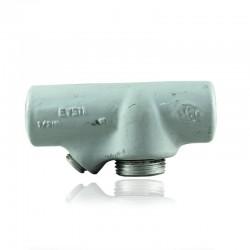 Sello Cortafuego CROUSE HINDS de 1 Pulg Hembra uso Vertical - horizontal en Aluminio con Pintura Gris - EYS-31