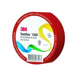 Cinta 3M Aislante Temflex 18 mm x 18 mts Rojo