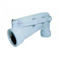 Codo Aluminio 1 Pulgadas Con Tapa Sesgada - LBH 100