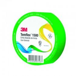Cinta 3M Aislante Temflex 18 mm x 10 mts Verde - 70003