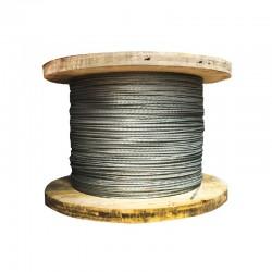 Cable Acerado para Retenida de 3-8 Galvanizado Metro