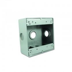 Caja Crouse Hinds Fundición Aluminio 2400 Con Salida 3-4 Pulgadas 3 Huecos - TP 7090