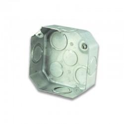 Caja Metalica Galvanizada Octagonal para Roseta - 33-7-26 EX