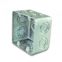 Caja Metalica Galvanizada 10X10(Ref Doble Fondo) Para Tomas Trifasicas-