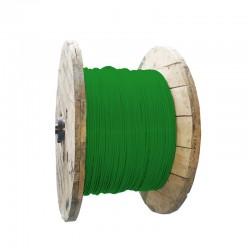 Cable de Cobre Aislado No 6 AWG Metro LIBRE DE HALOGENOS Color Verde