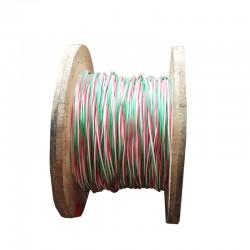 Cable de Cobre Aislado No 12 AWG Metro Triplex Color Rojo Verde Blanco THHN