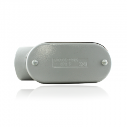 Conduleta CROUSE HINDS Serie 7 NEMA3R Forma - LB 3 Pulg En Aluminio Ref: 11698271/LB-87 CG C/TAPA Y EMP