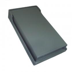 Tapa Leviton para Toma Sencilla de 20A Plastica Color Gris tipo Intemperie Ref: 4980-GY