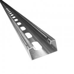 Riel Channel 4X2 X 2 40 Mts Troquelado Ref: C78T-64 -1 5/8x 7/8 CAL 16