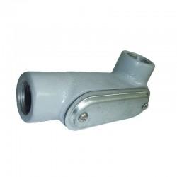 Conduleta CROUSE HINDS Serie 7 NEMA 3R LR 3-4 Pulgadas Aluminio - Ref: 640631-LR27CG SA C-TAPA Y EMP