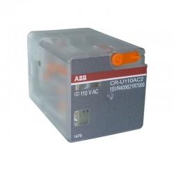 Rele Enchufable ABB Tipo Universal 8 PINES CR-U110AC2 Ref: 1SVR405621R7000