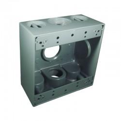 Caja Tipo RADWELL 2400 Con Salida 1 Pulgada 3 Huecos
