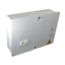 Tablero TERCOL Monofásico Con Puerta 6 Circuitos 75A Blanco Ref: TE6MP