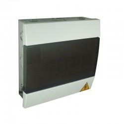 Tablero TERCOL Monofásico Con Tapa Plástico 4 Circuitos Caja Metalica Ref: TTP4G- 75AMP