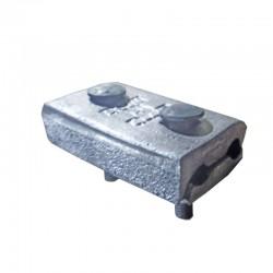 Conector en Aluminio 2 Pernos 4-4-0 Ref: