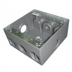 Caja Tipo RADWELL 2400 Con Salida 3-4 Pulgadas 4 Huecos